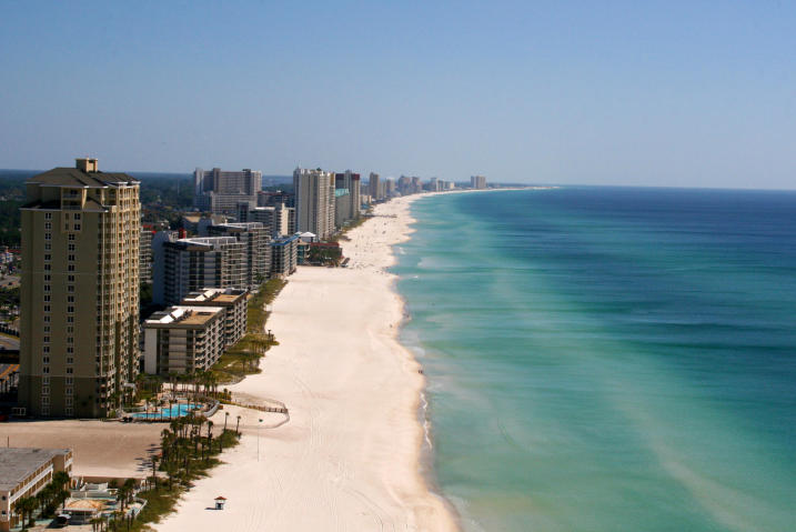 Panama City Beach condo view of beach