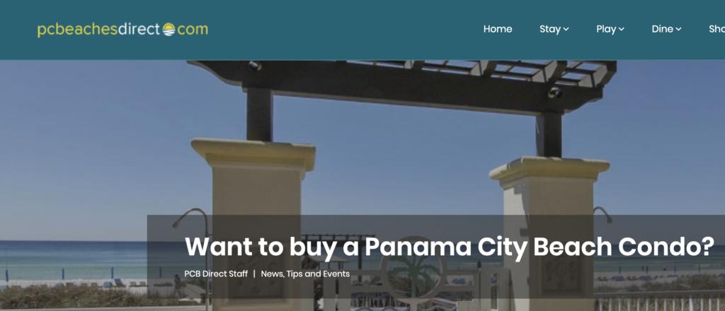 buy a condo on Panama City Beach